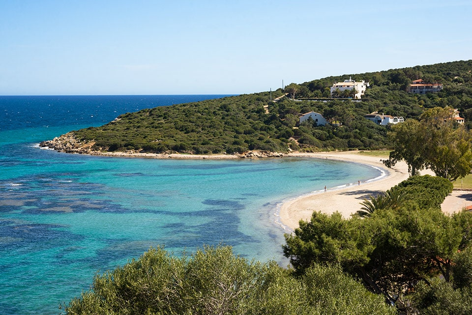 L'incontaminata e deserta spiaggia di Maldroxia, perla dell'isola di Sant'Antioco