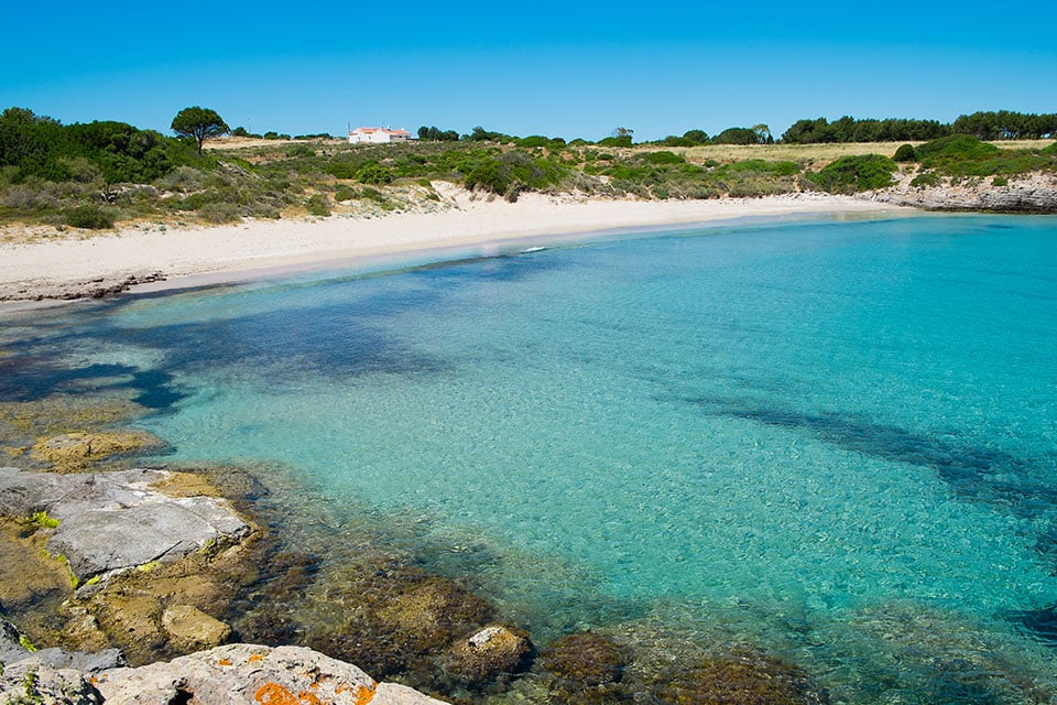 A wonderful and deserted beach of Carloforte