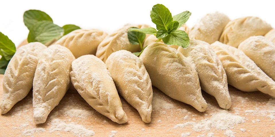 I culurgiones, ravioli tipici della gastronomia sarda fatti con