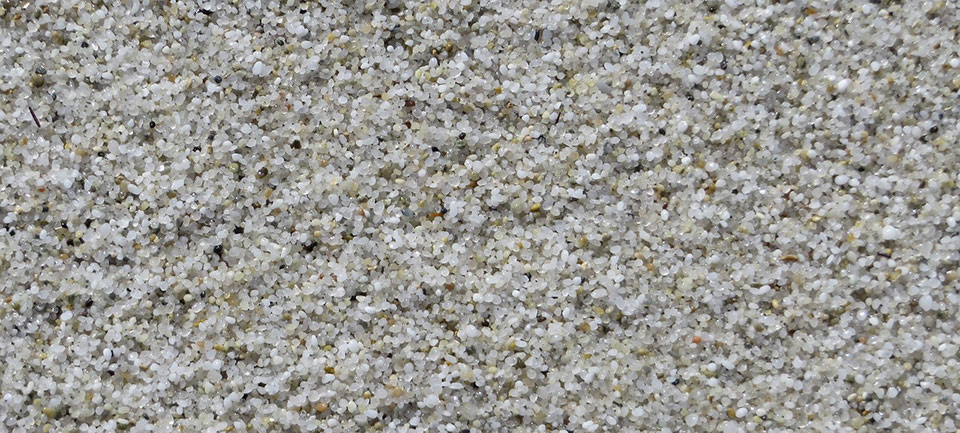 Der typische Sand von Is Arutas und Mari Ermi