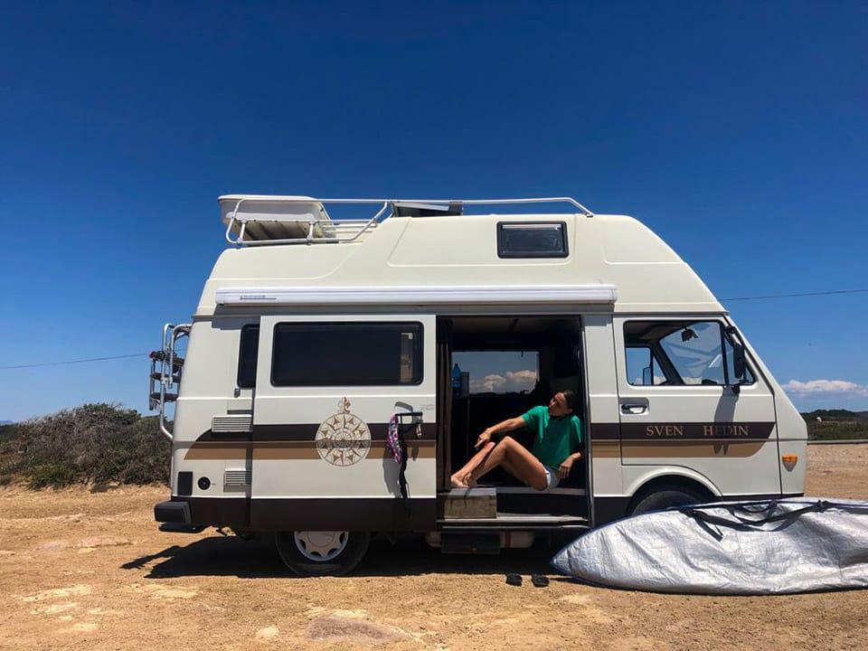 Viaggiare in camper con l'attrezzatura sportiva
